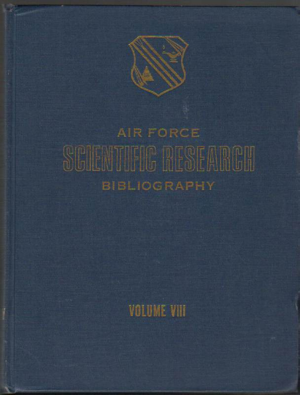 Image for Air Force Scientific Research Bibliography 1965