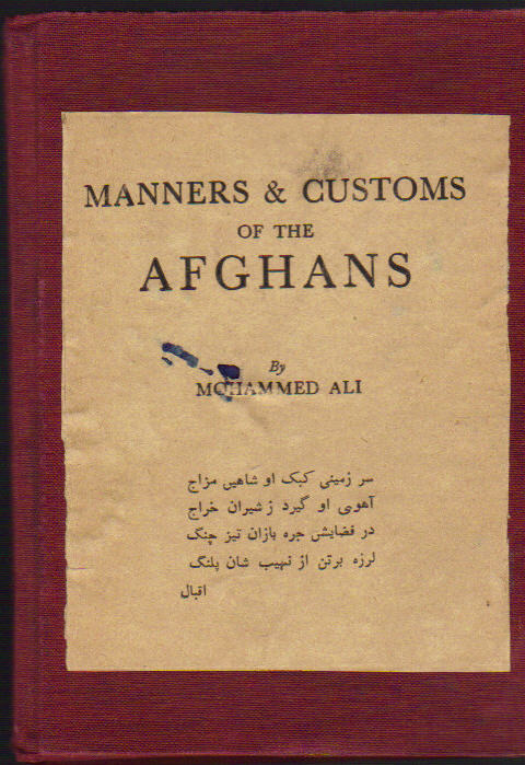 Image for Manners & Customs of the Afghans